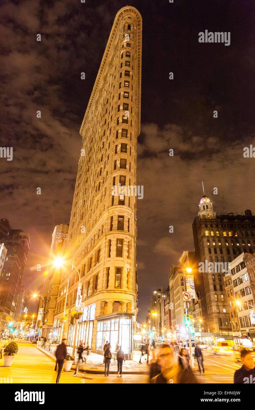 Flatiron Building, New York City, USA. - Stock Image