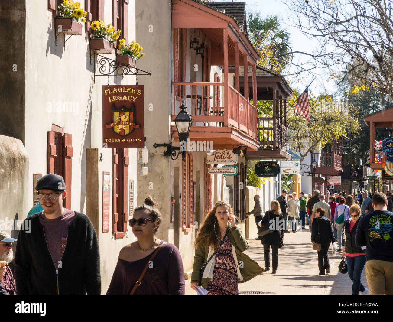 ccba816a9 St George Street St Augustine Florida Usa Stock Photos   St George ...