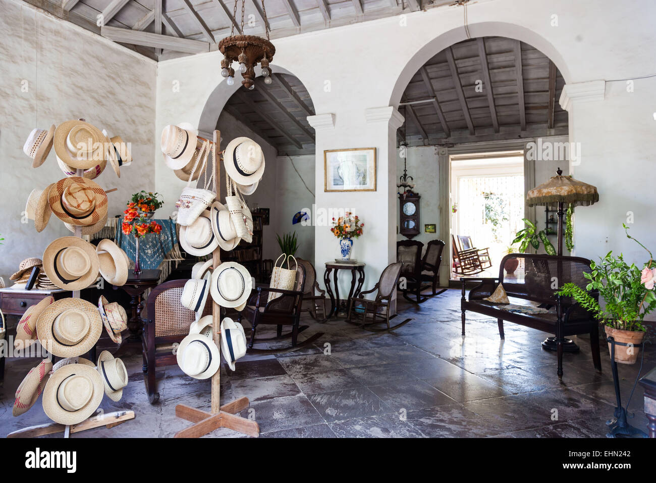 169c3b7b495391 Hat shop in an old colonial house, Trinidad, Cuba Stock Photo ...