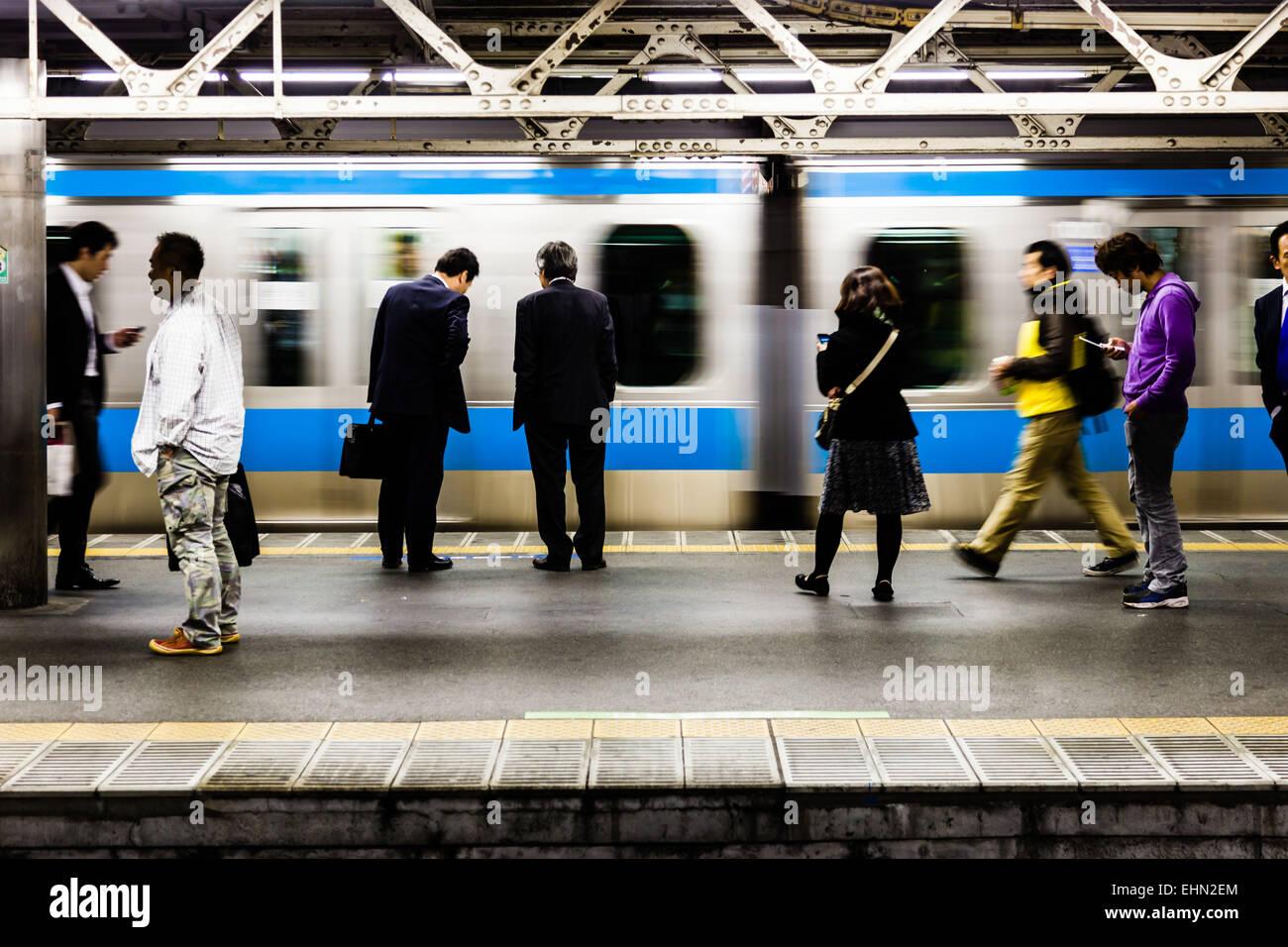 Public transport, Tokyo, Japan. - Stock Image