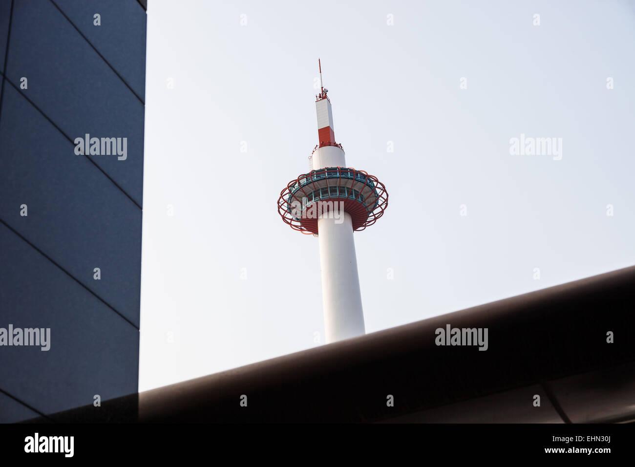 Kyoto tower, Japon. - Stock Image