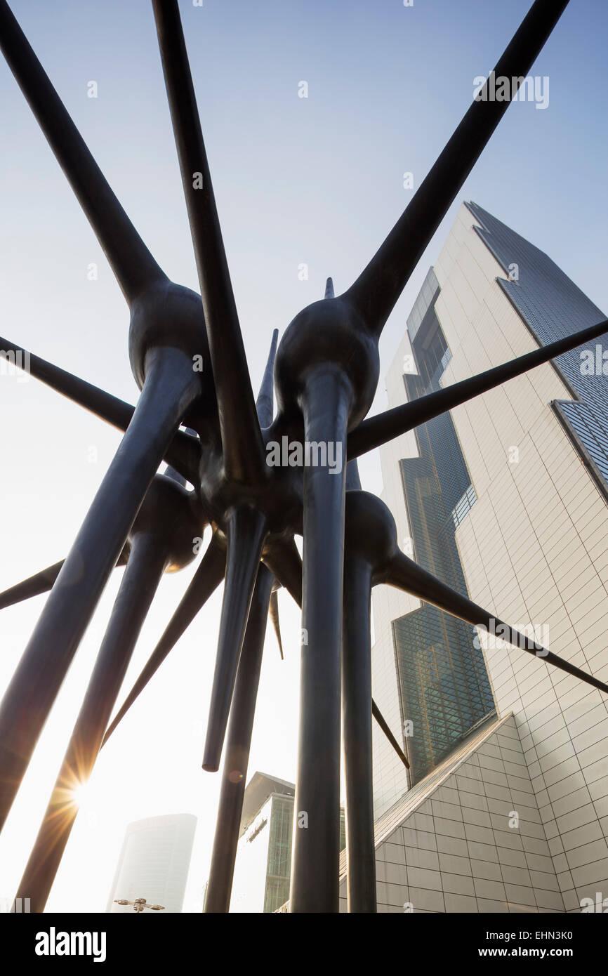 Asia, Republic of Korea, South Korea, Seoul,  Coex World Trade tower, sculpture - Stock Image