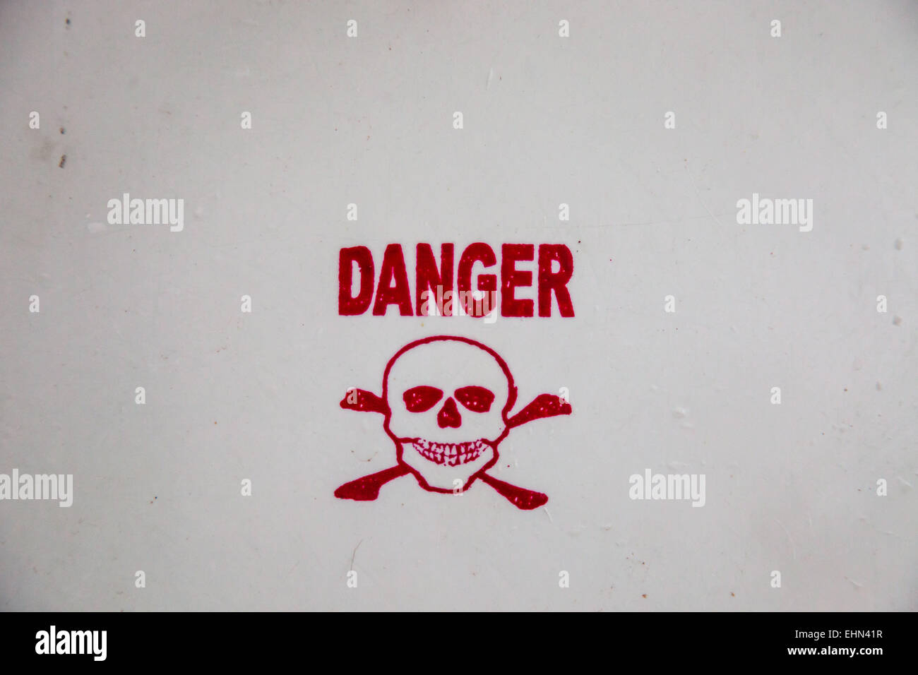 Panel danger. - Stock Image