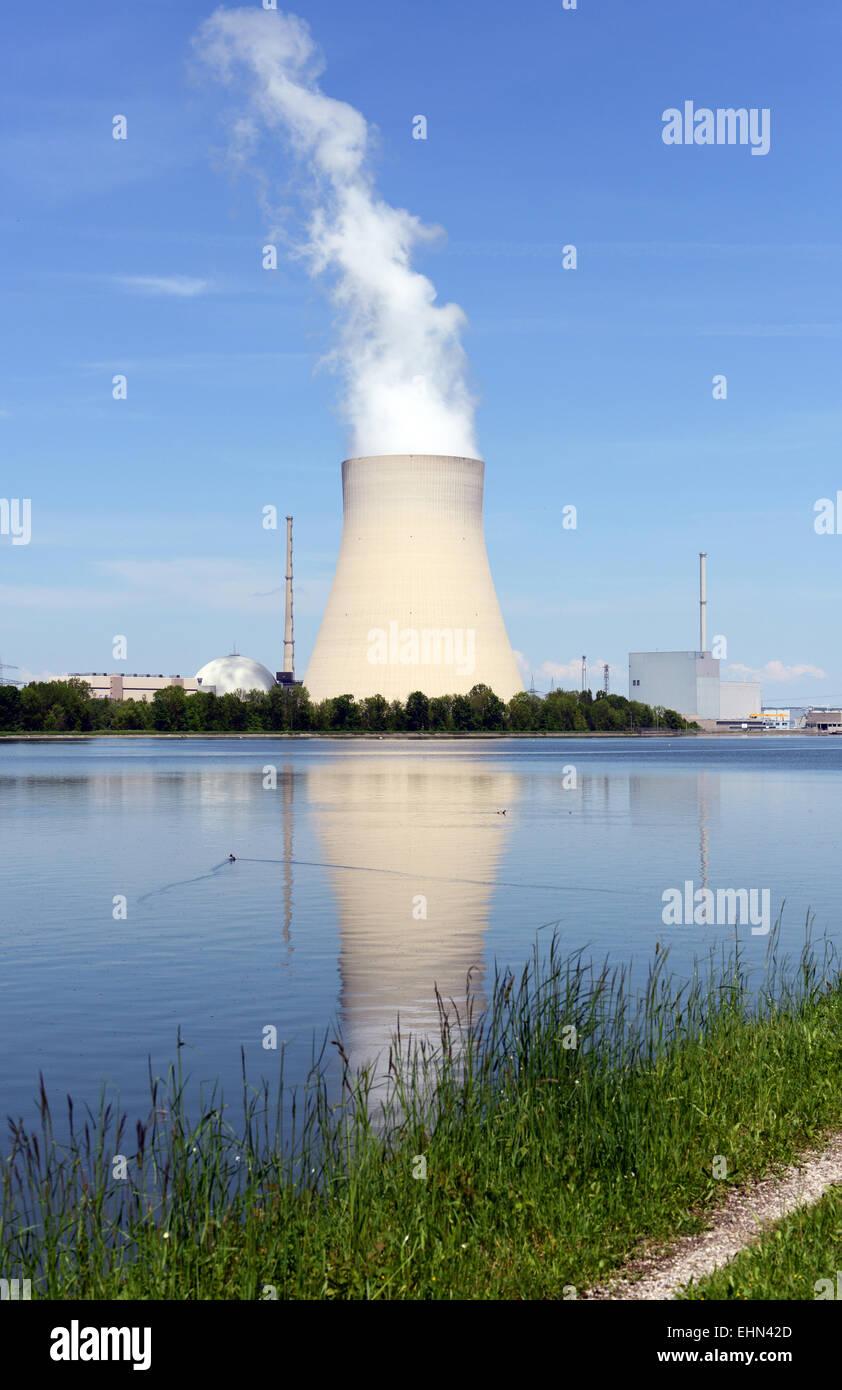 Atomkraftwerk / Nuclear reactor Stock Photo