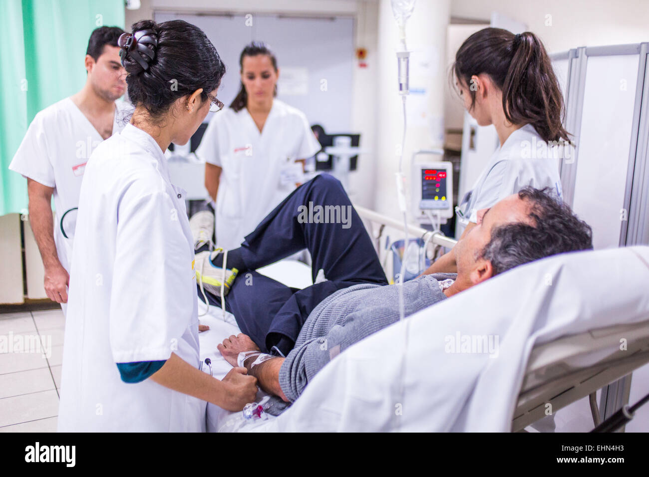 Early care and urgency of a patient with symptoms of a stroke, Intensive Care Unit Neuro-Vascular (UNV) CHU Bordeaux. - Stock Image