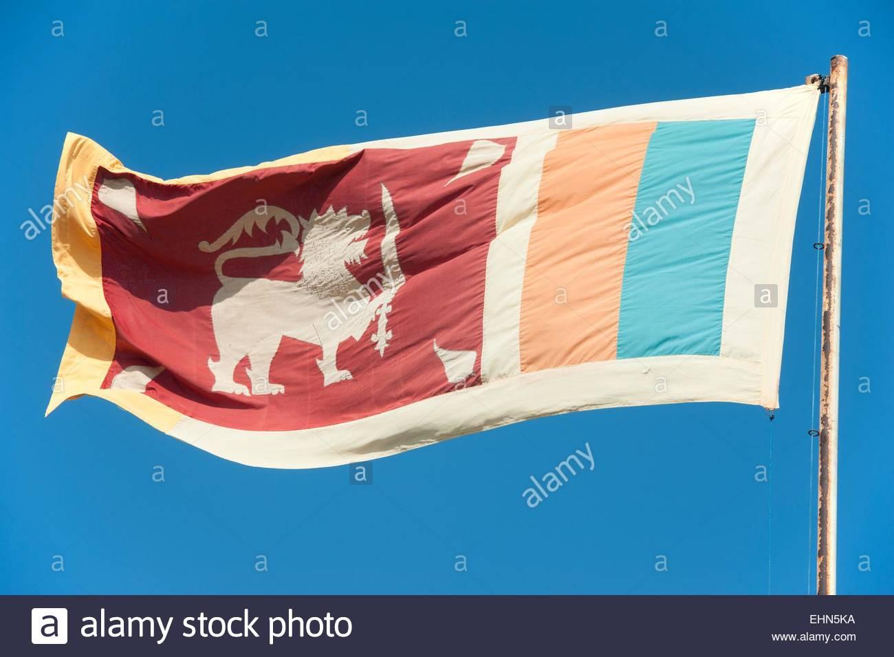 Sri Lankan flag - Stock Image