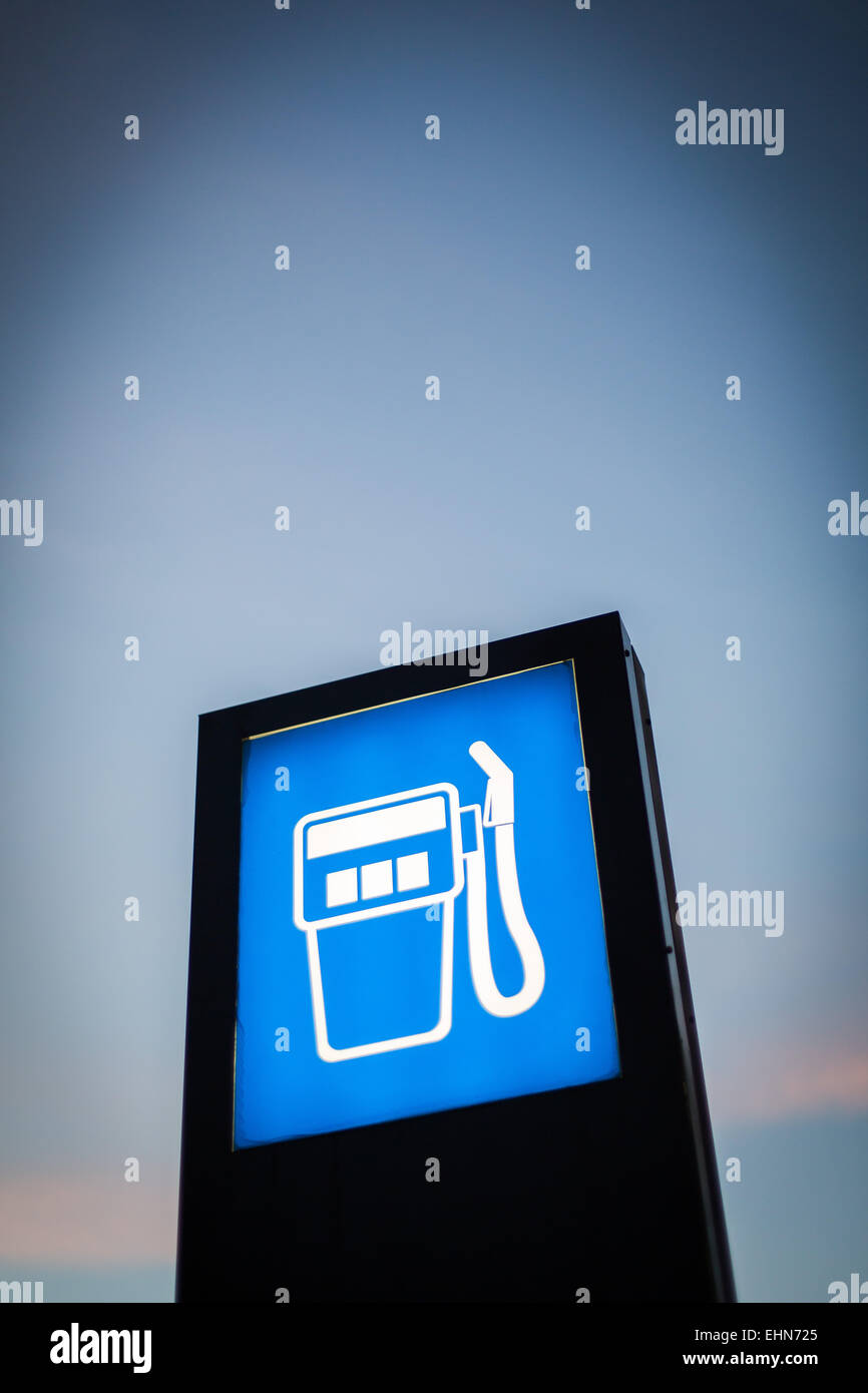 Service station's sign. - Stock Image