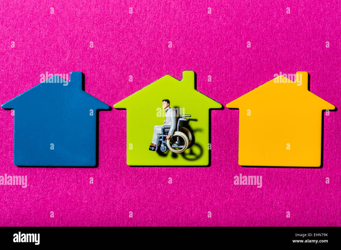 Conceptual image on accessibility for physically handicapped. - Stock Image