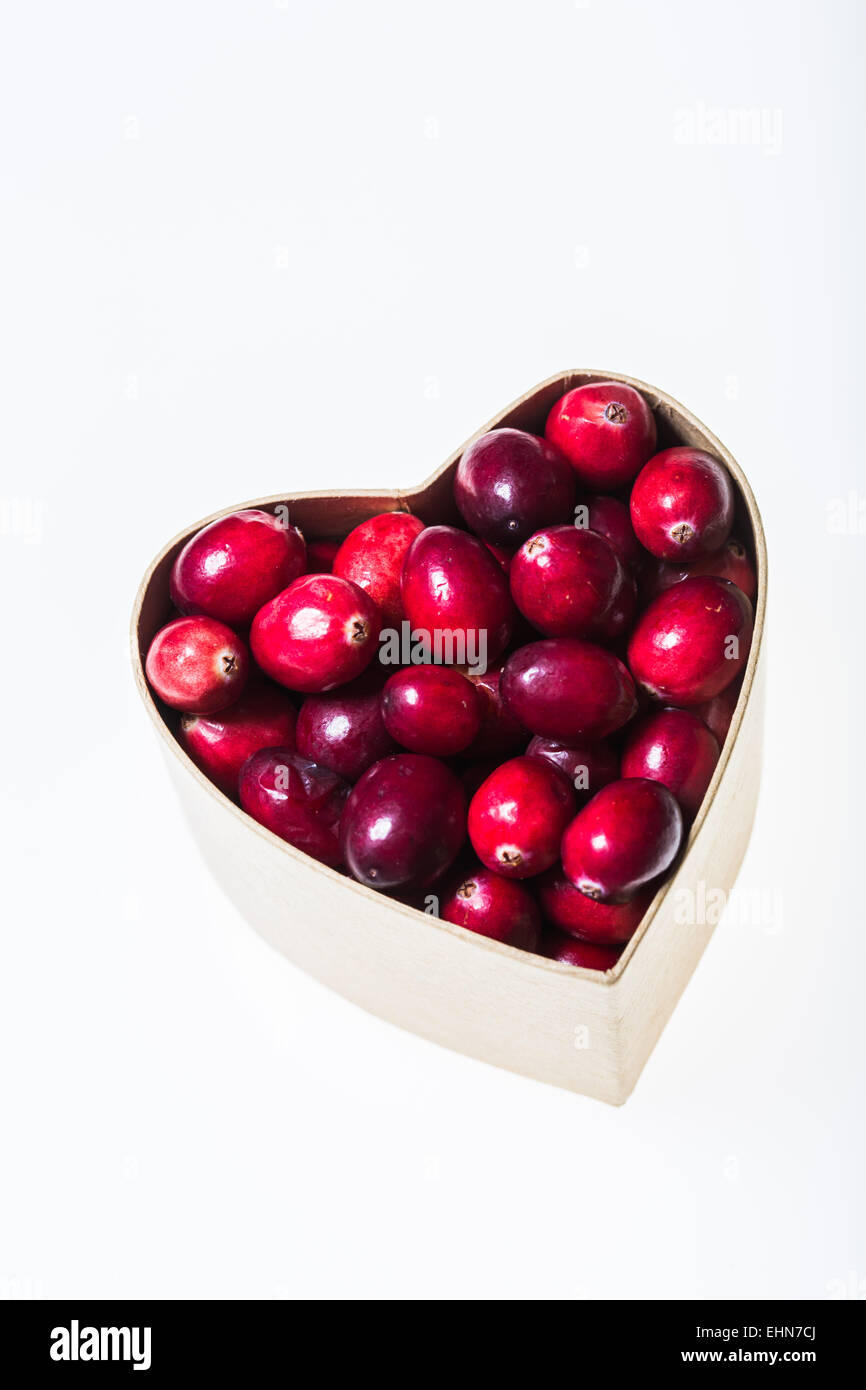 Fresh cranberries. - Stock Image
