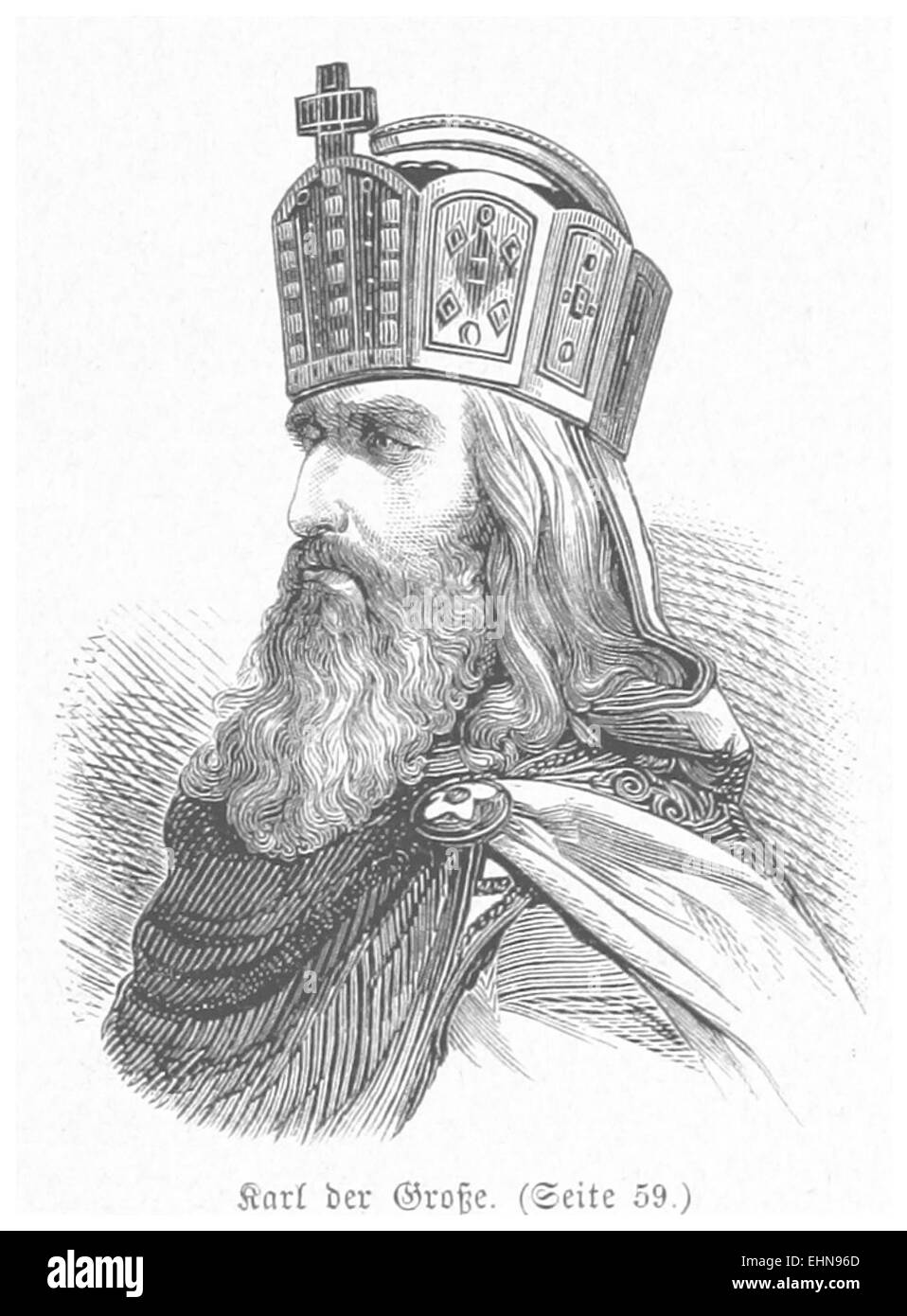 BERMANN(1880) p0063 Karl der Große - Stock Image