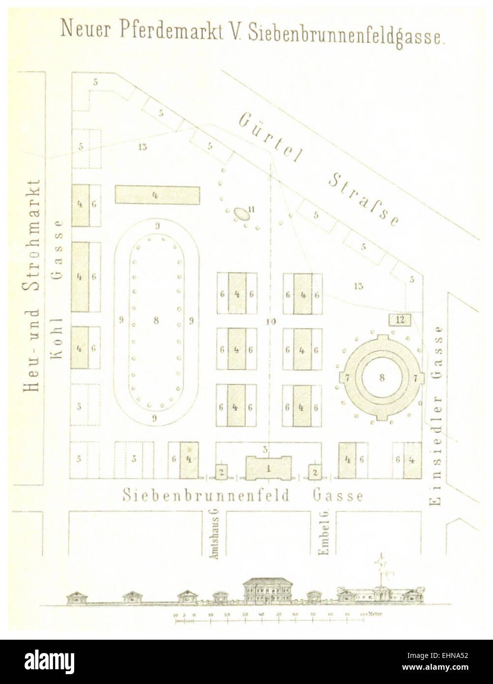 Berichte der Wiener Stadtverwaltung, 1873ff, div. Pläne und Ansichten 06 Stock Photo