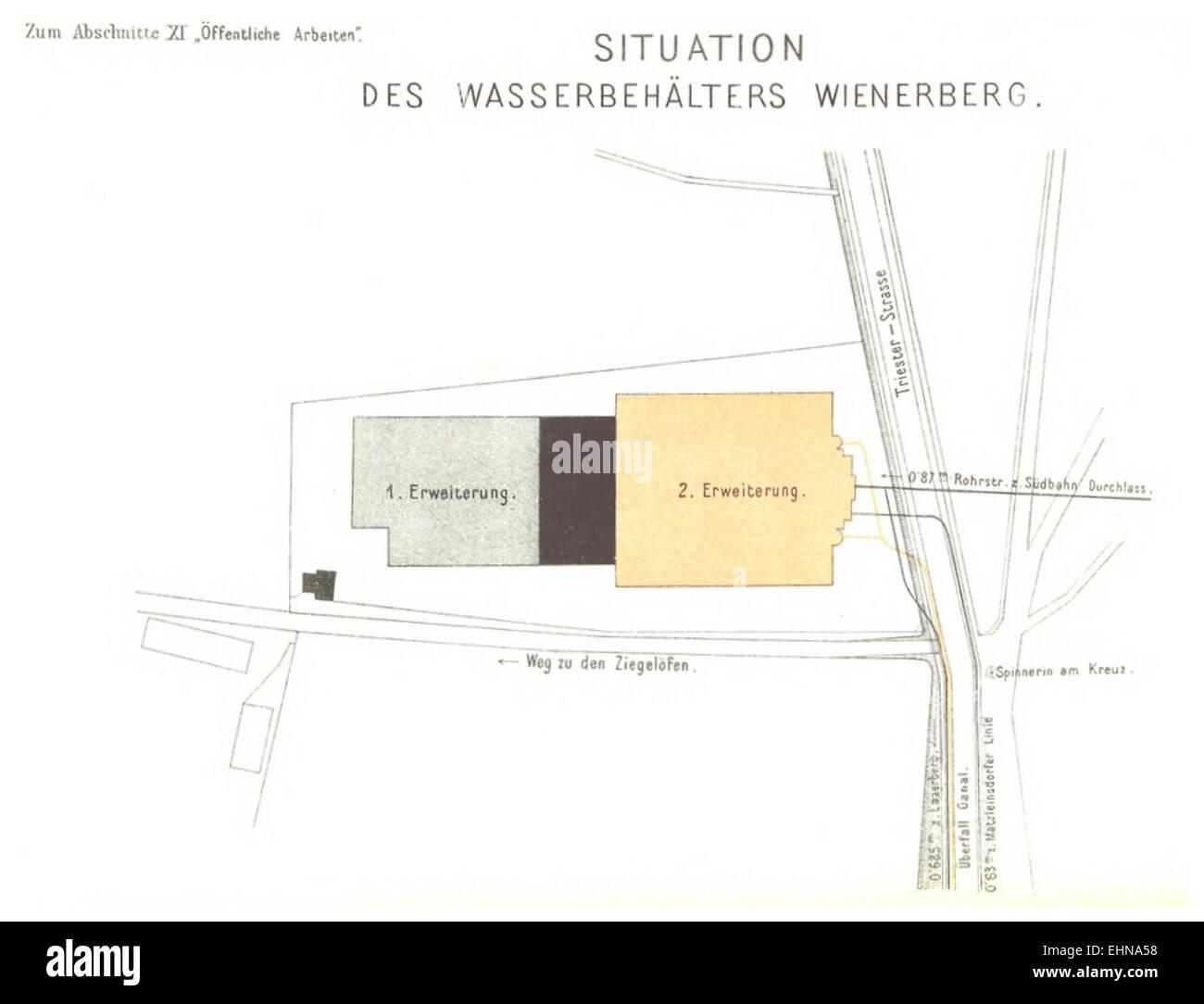 Berichte der Wiener Stadtverwaltung, 1873ff, div. Pläne und Ansichten 11 Stock Photo