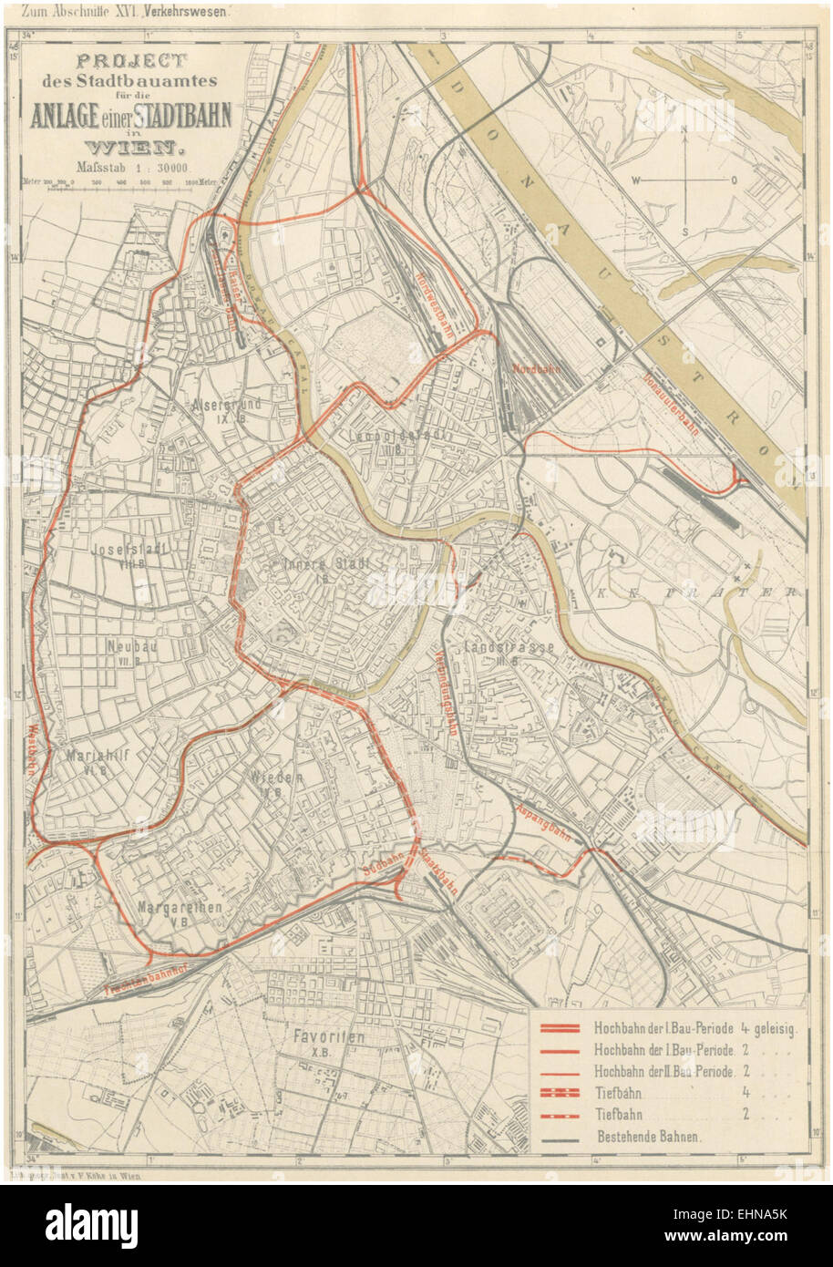 Berichte der Wiener Stadtverwaltung, 1873ff, div. Pläne und Ansichten 07 Stock Photo
