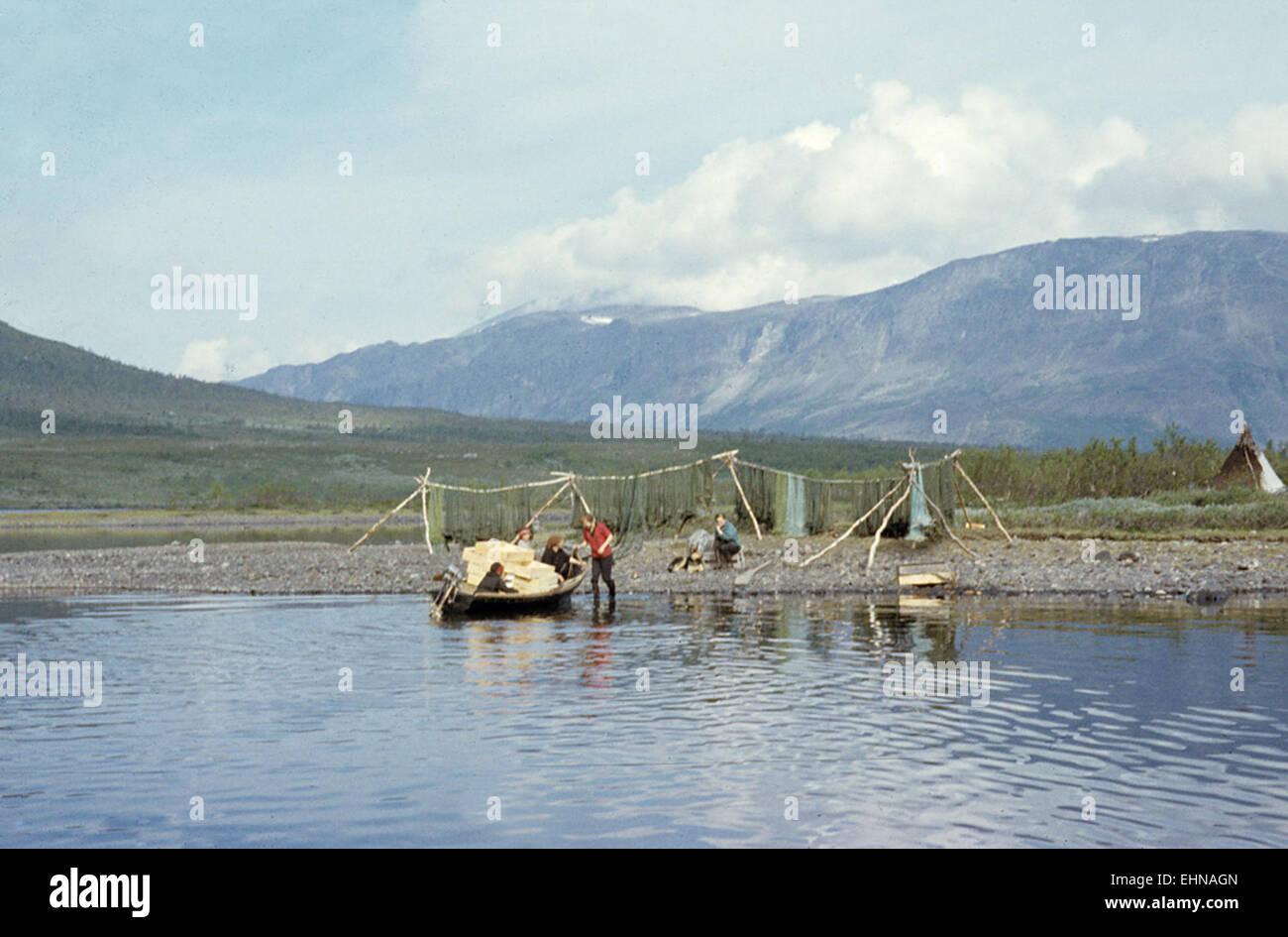 Satisjaure (Satihaure), Gällivare, Lappland - Stock Image