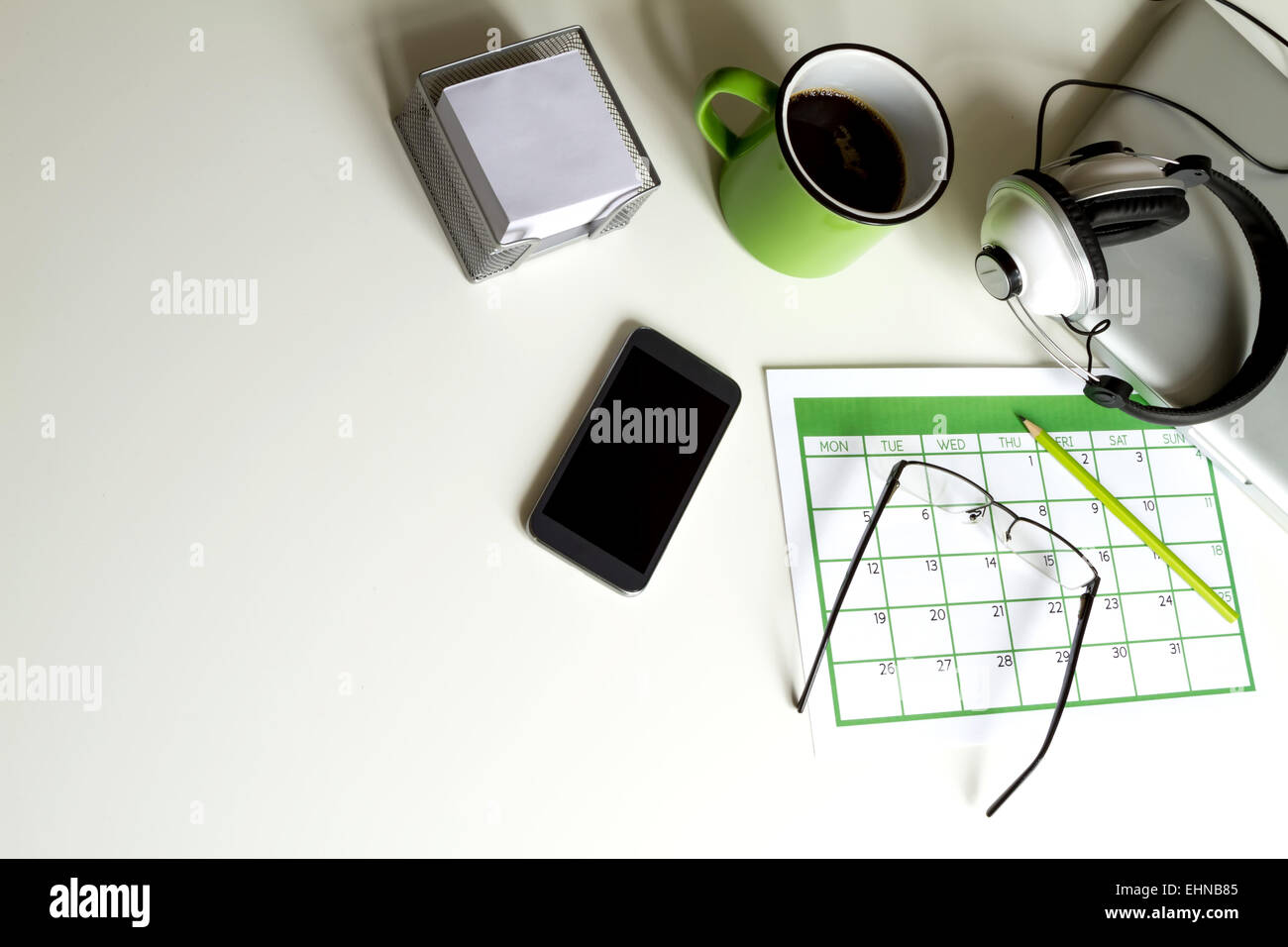 Organizing business and personal tasks and meetings - Stock Image