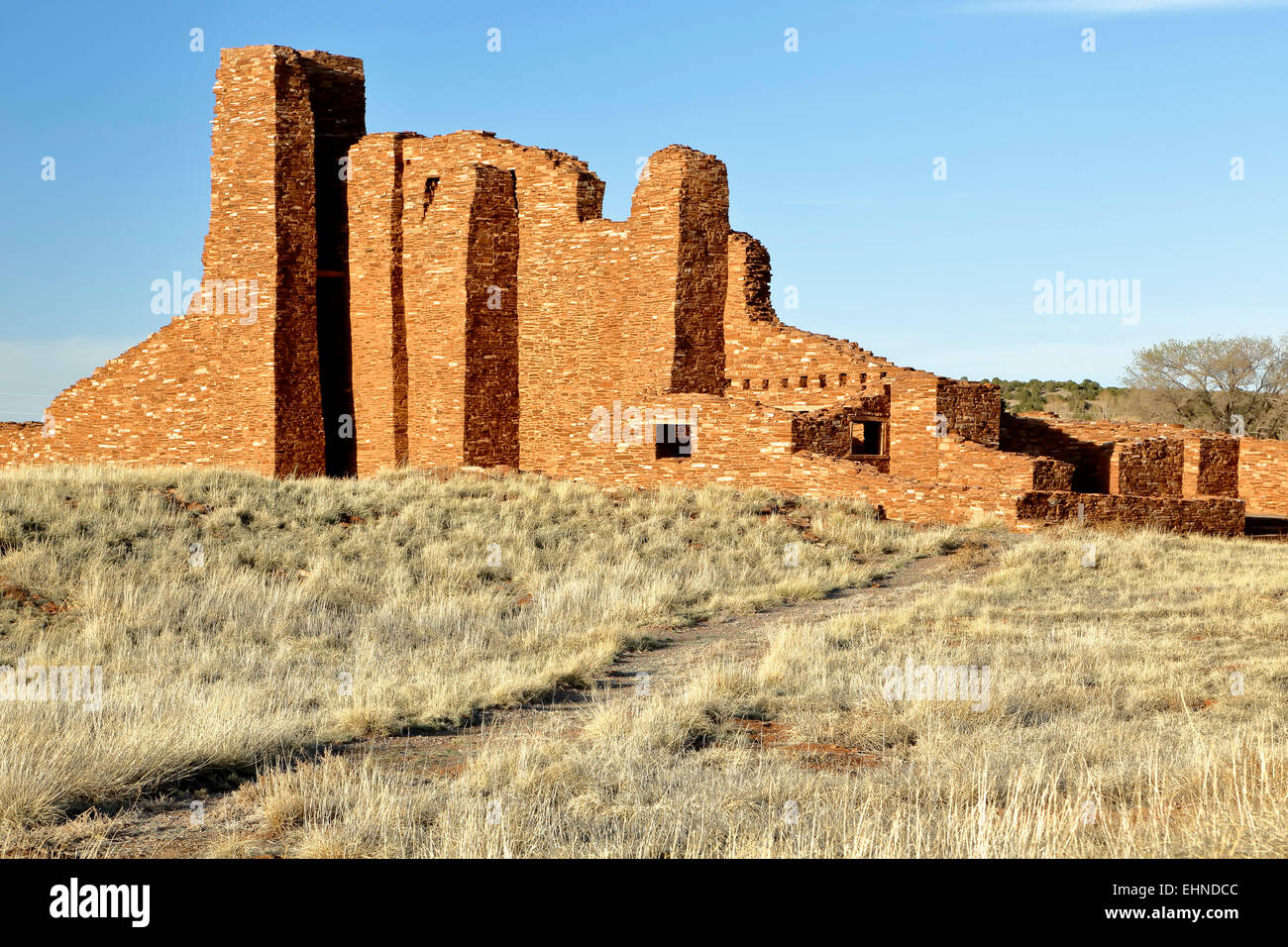 Church ruins, Salinas Pueblo Missions National Monument, New Mexico USA - Stock Image