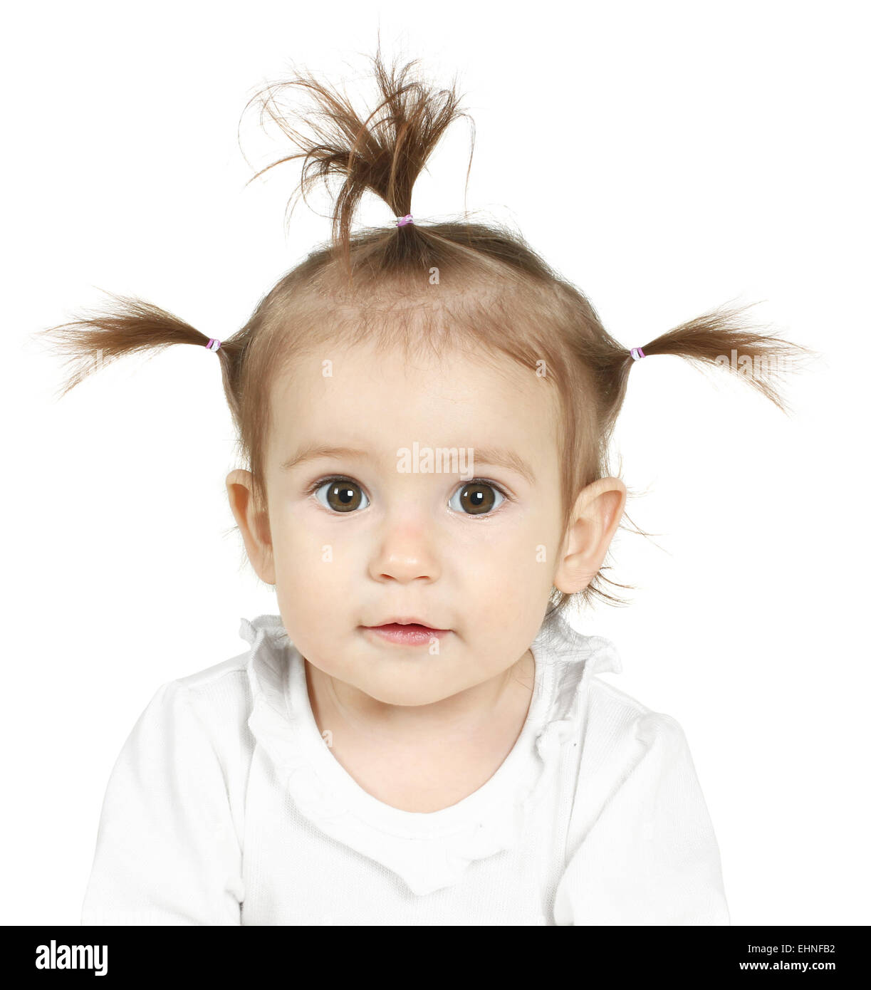 Groovy Portrait Of Little Girl With Funny Ponytail Stock Photo 79763686 Schematic Wiring Diagrams Amerangerunnerswayorg