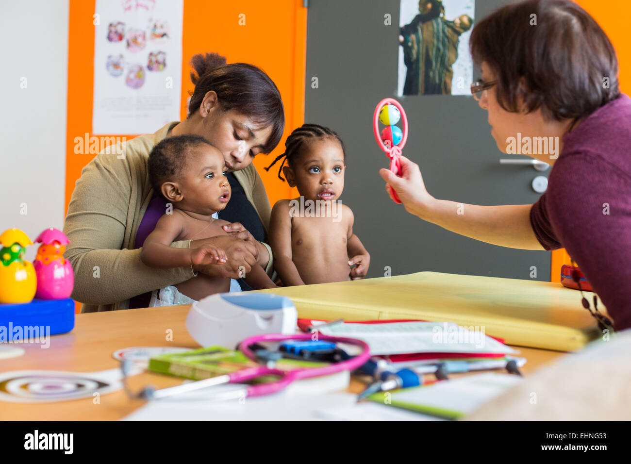 Maternal and Child Welfare, Charente, France. - Stock Image