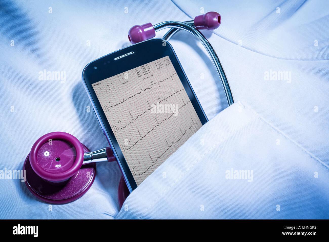 Telemedicine, conceptual image. - Stock Image