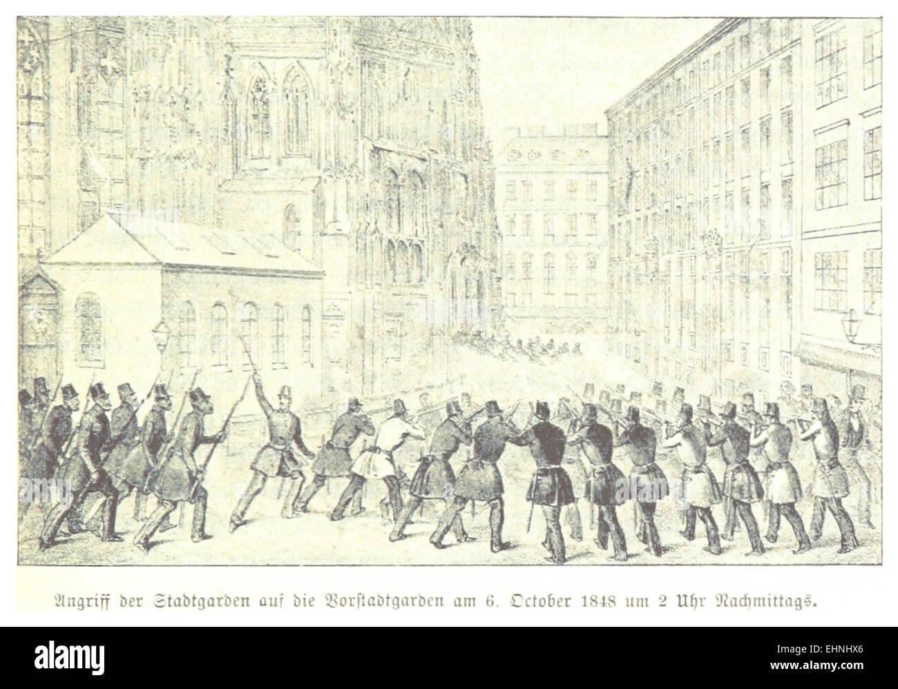BACH(1898) p651 Oktoberaufstand, Gefecht am Stadtrand, 06.10.1848 - Stock Image