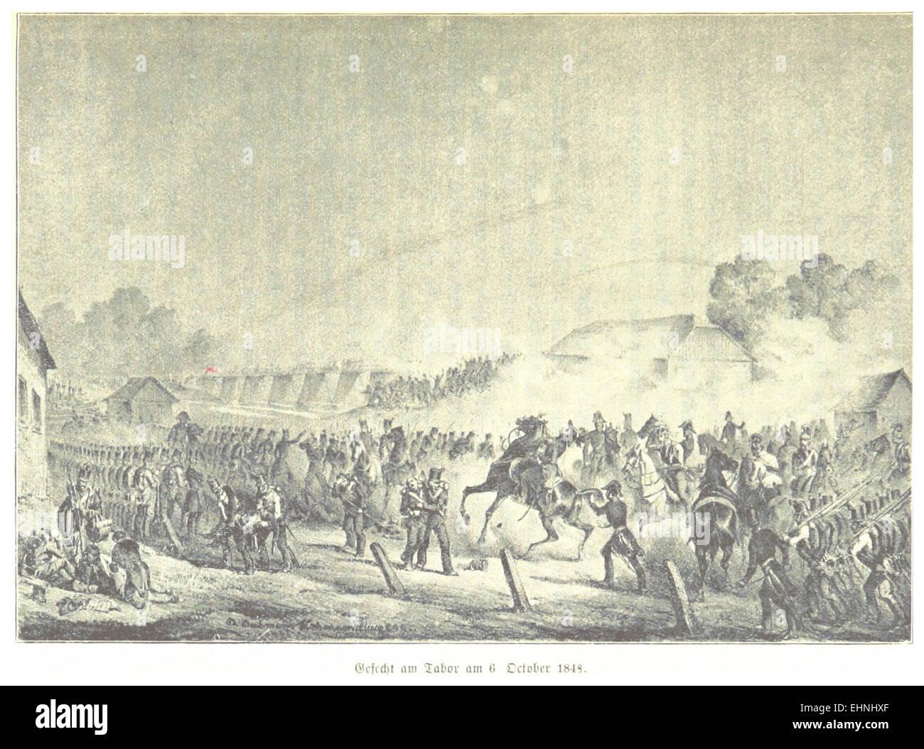 BACH(1898) p671 Oktoberaufstand, Gefecht am Tabor, am 06.10.1848 - Stock Image