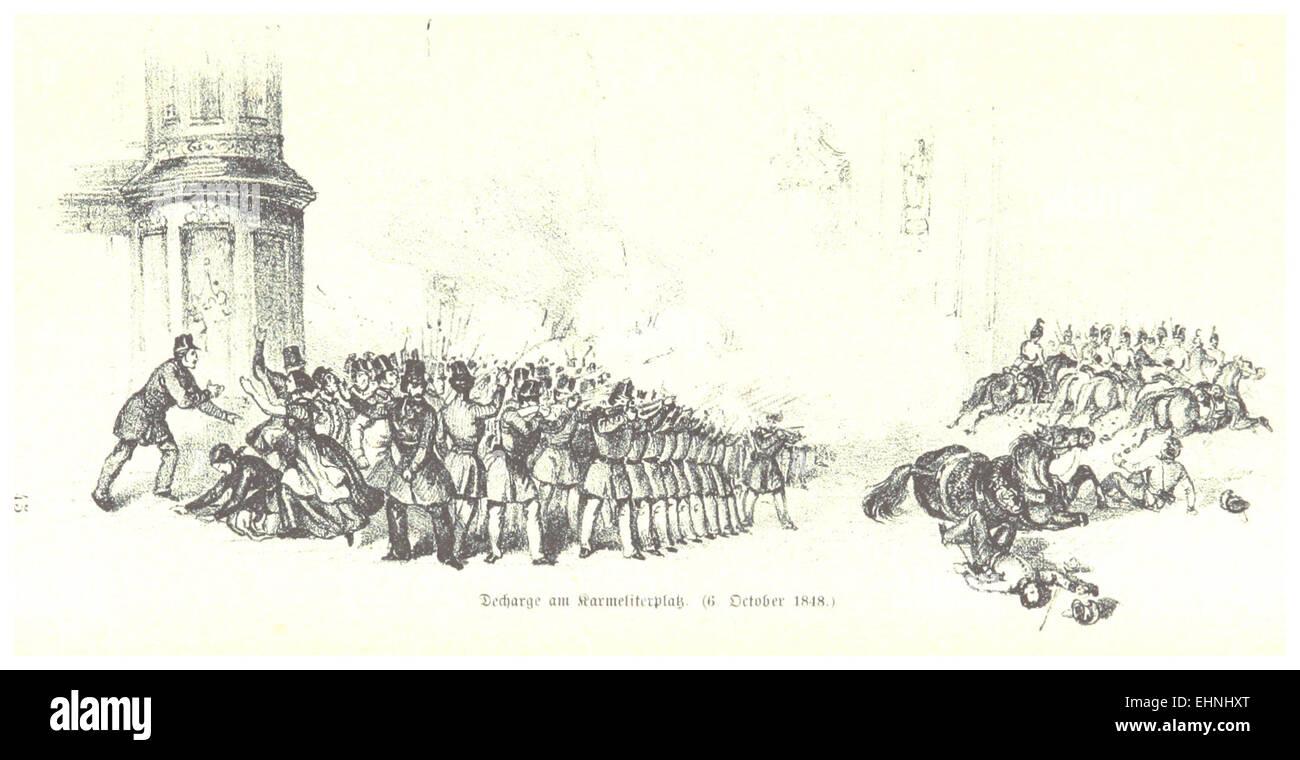BACH(1898) p735 Oktoberaufstand, Gefecht am Karmeliterplatz - Stock Image