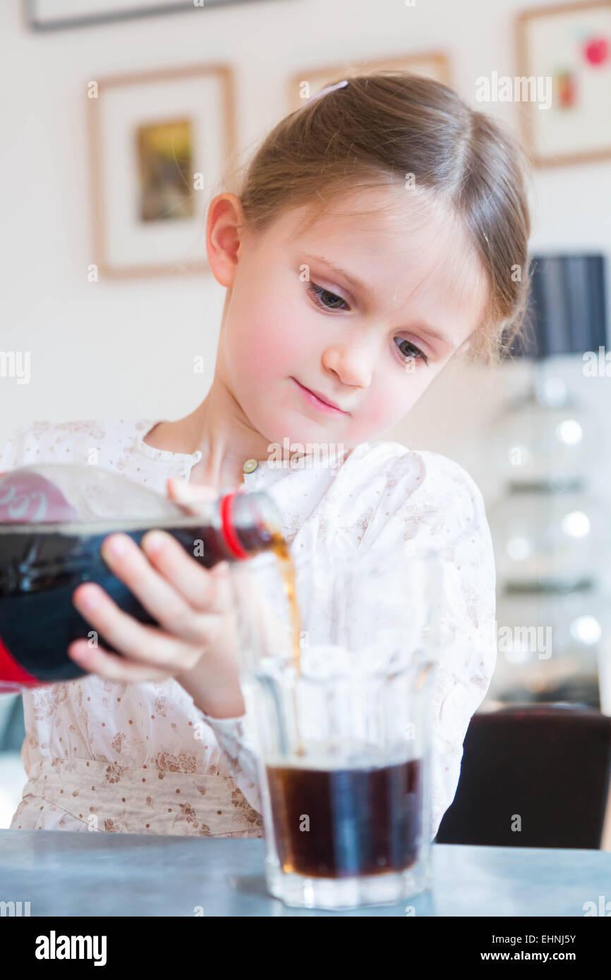 Girl Drinking Coca Cola Stock Photos Amp Girl Drinking Coca