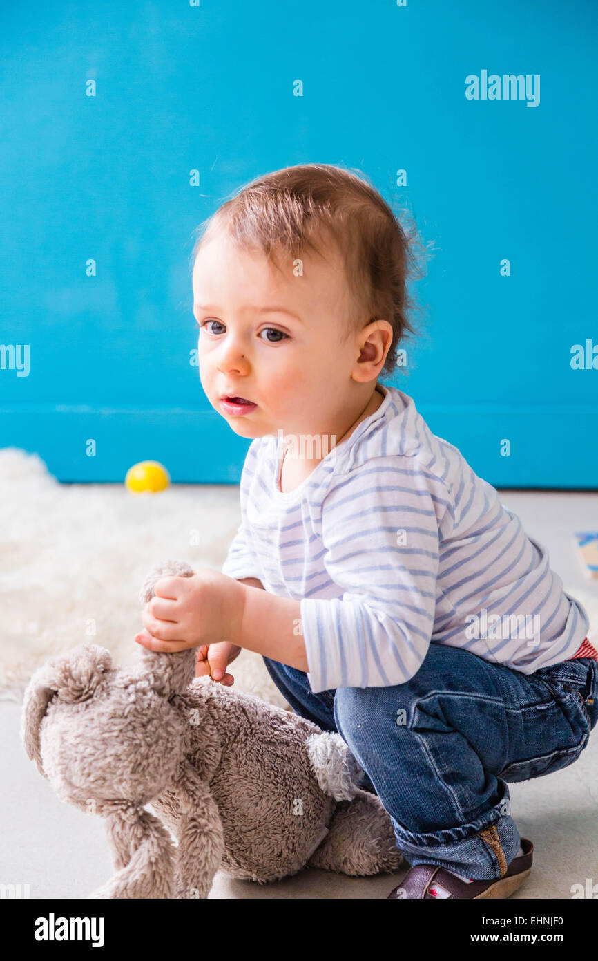 18 month-old baby boy. Stock Photo