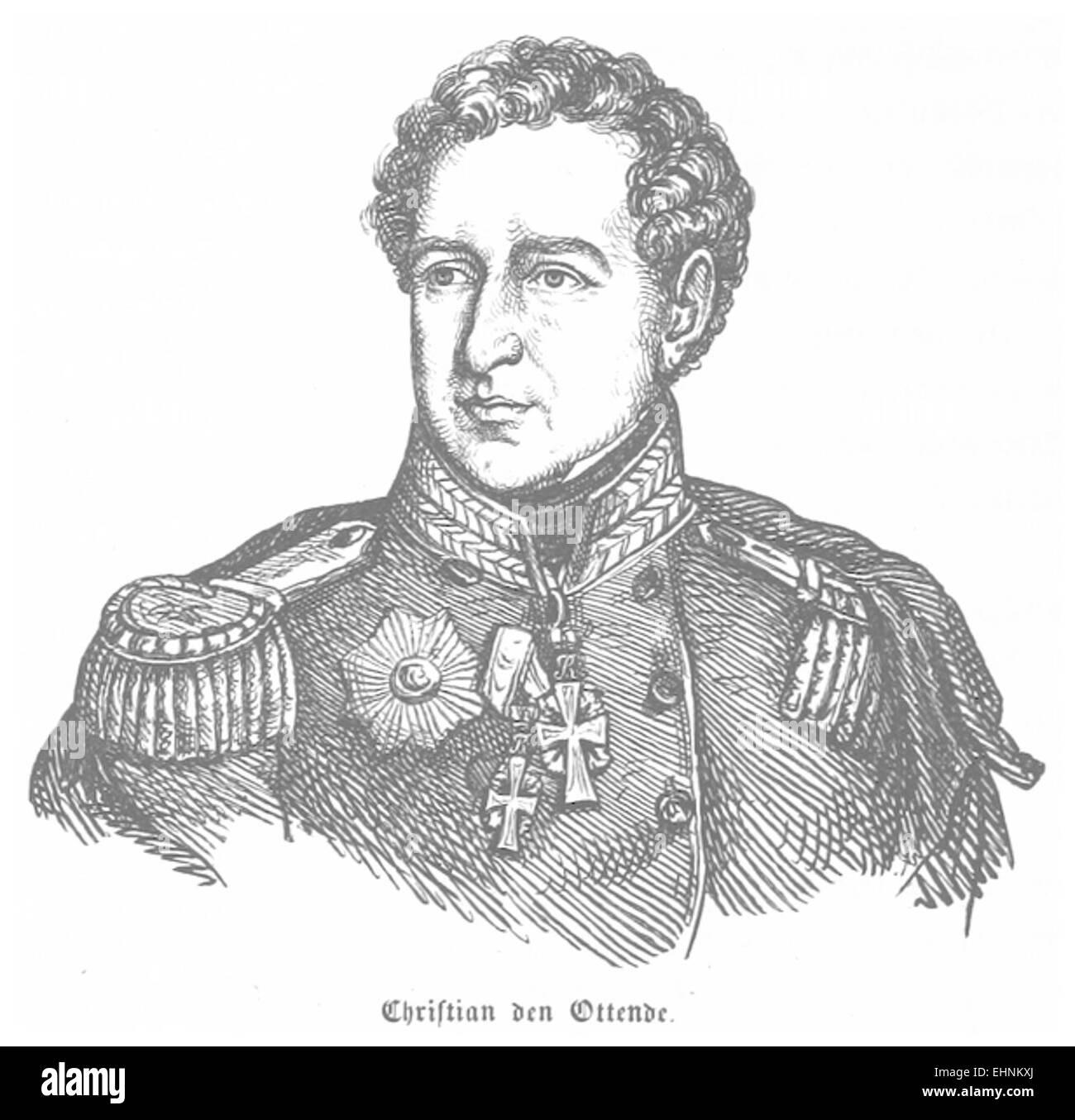 J.H.(1856) Denmark, p082 Christian VIII. Stock Photo