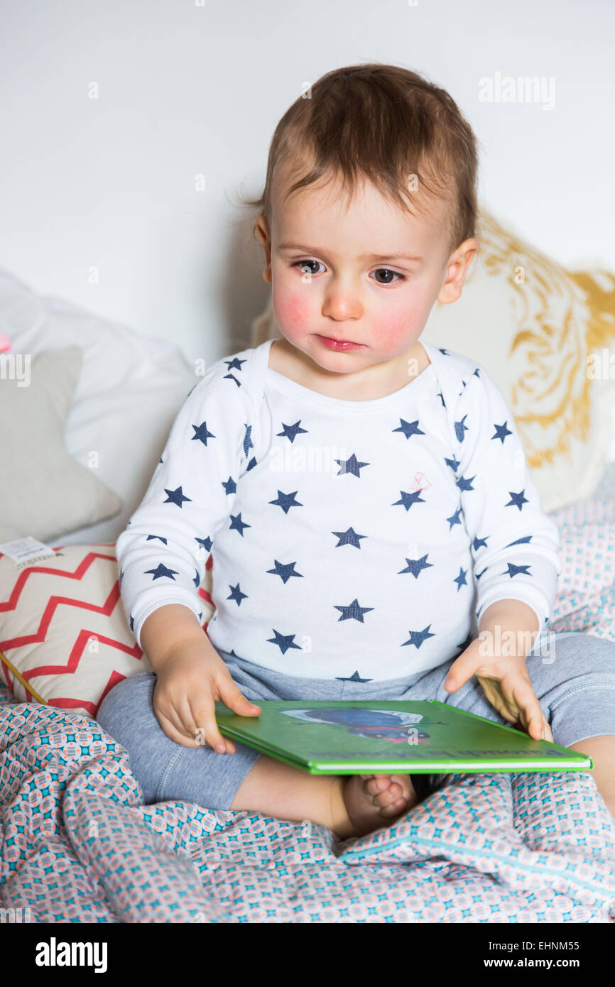 8 month-old baby boy. - Stock Image