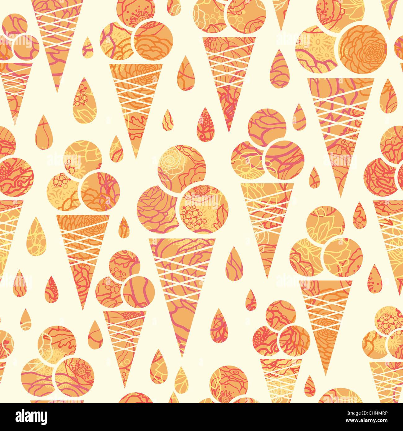 Summer Ice Cream Wallpaper: Summer Ice Cream Cones Seamless Pattern Background Stock