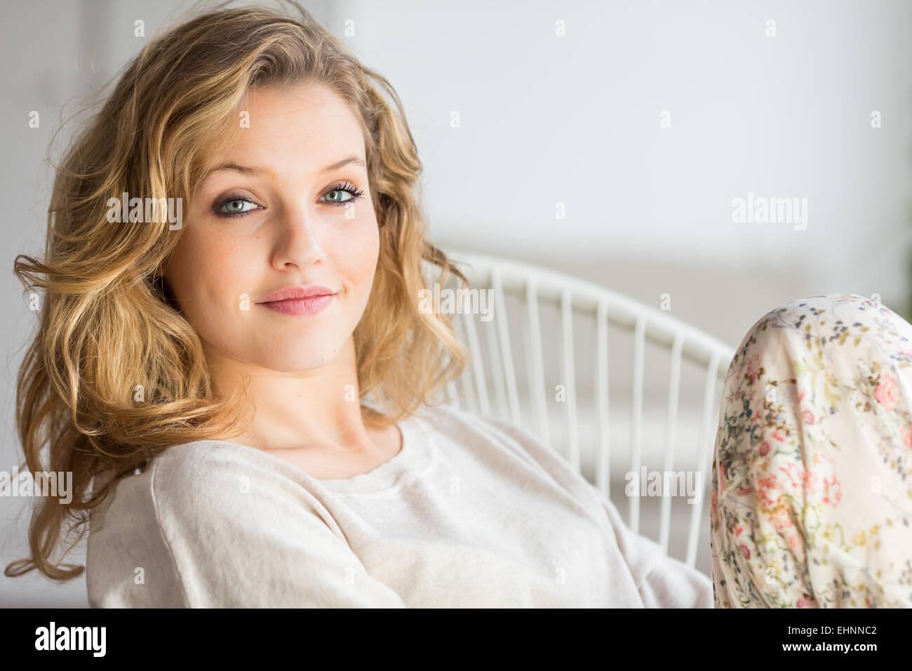 Portrait of a woman. - Stock Image