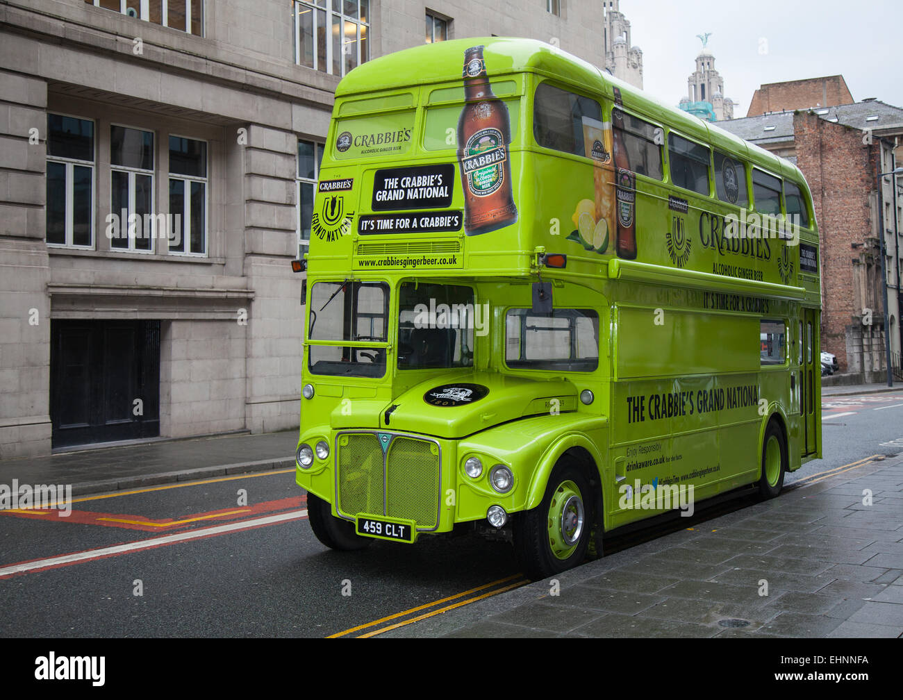 Liverpool, Merseyside, UK. 16th March, 2013. Leyland Aec RouteMaster Bus at the Grand National Event at the Indigo - Stock Image