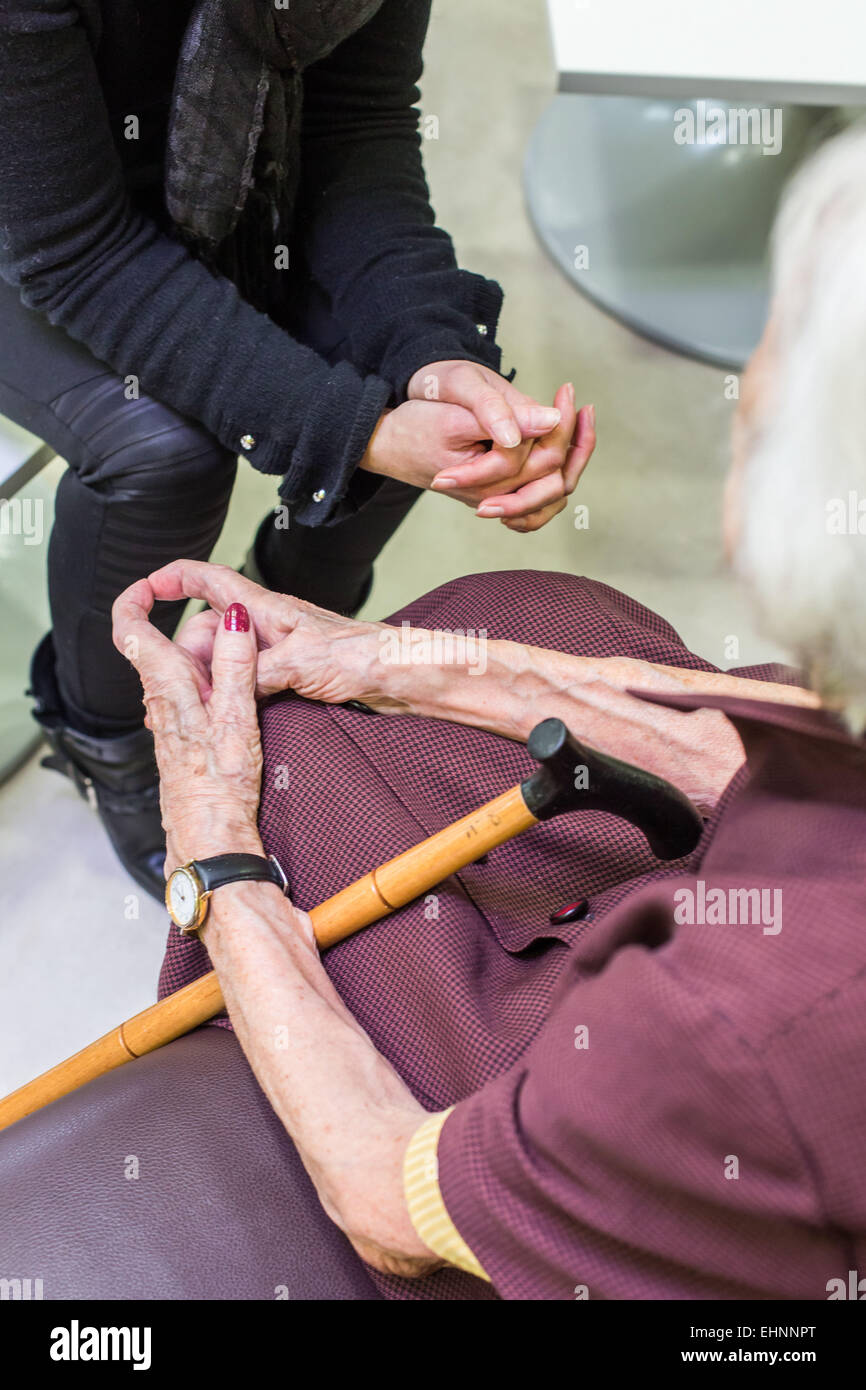 Residential home for alzheimer's disease elderly person. - Stock Image