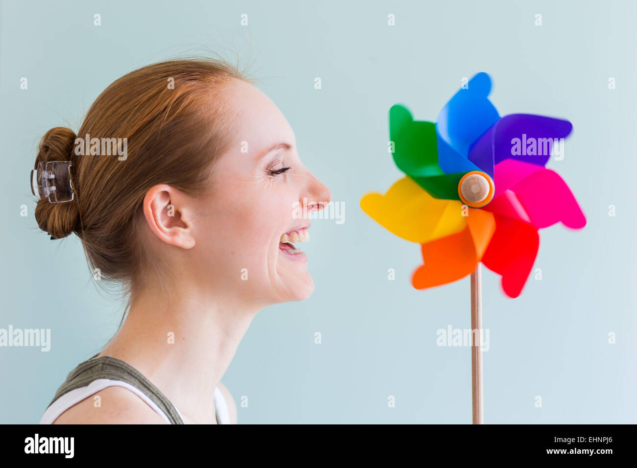 Conceptual image of breath. - Stock Image