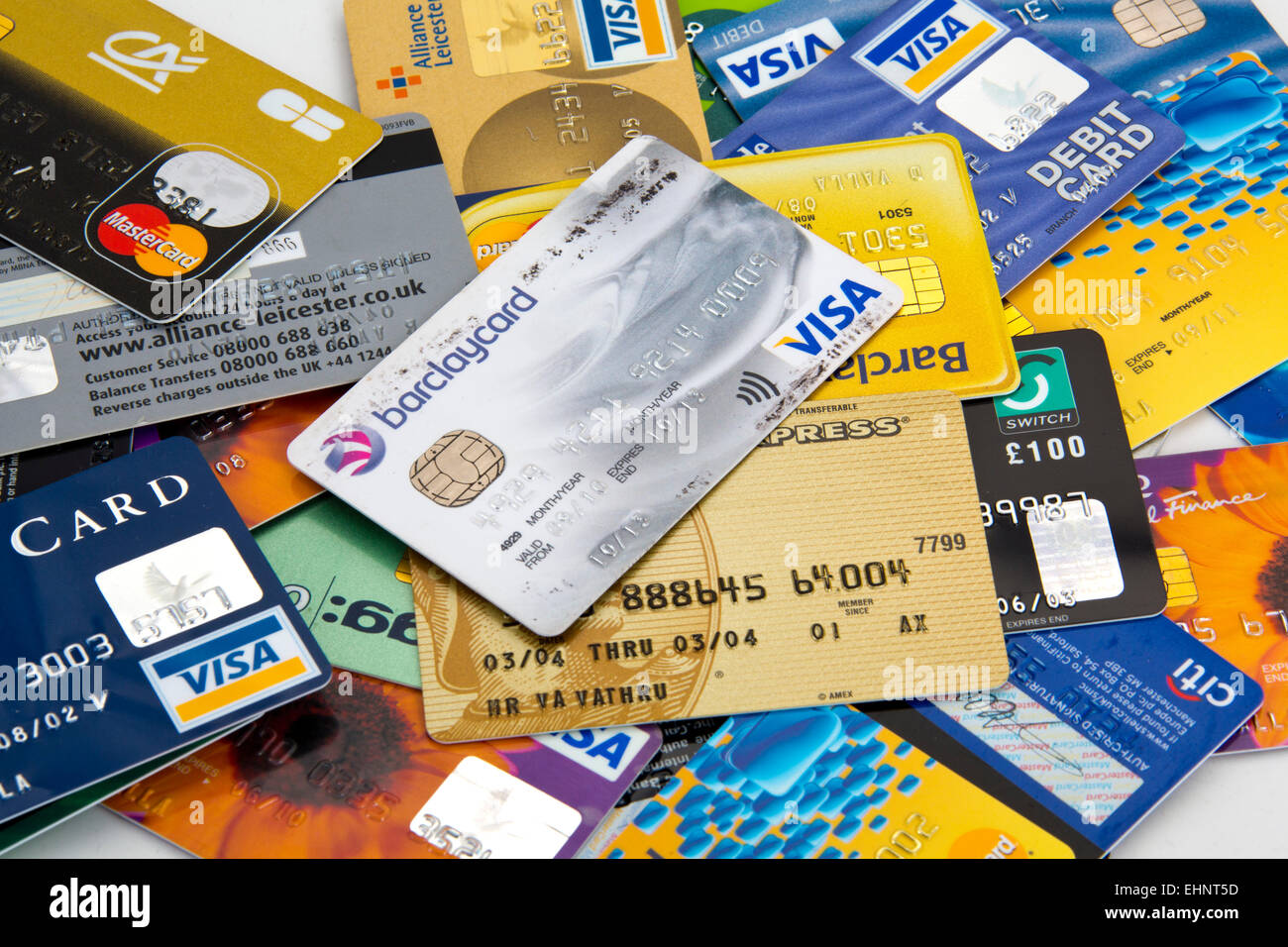 assortment of credit and debit cards visa and mastercard 151139_credit cards stock image - Visa Charge Card