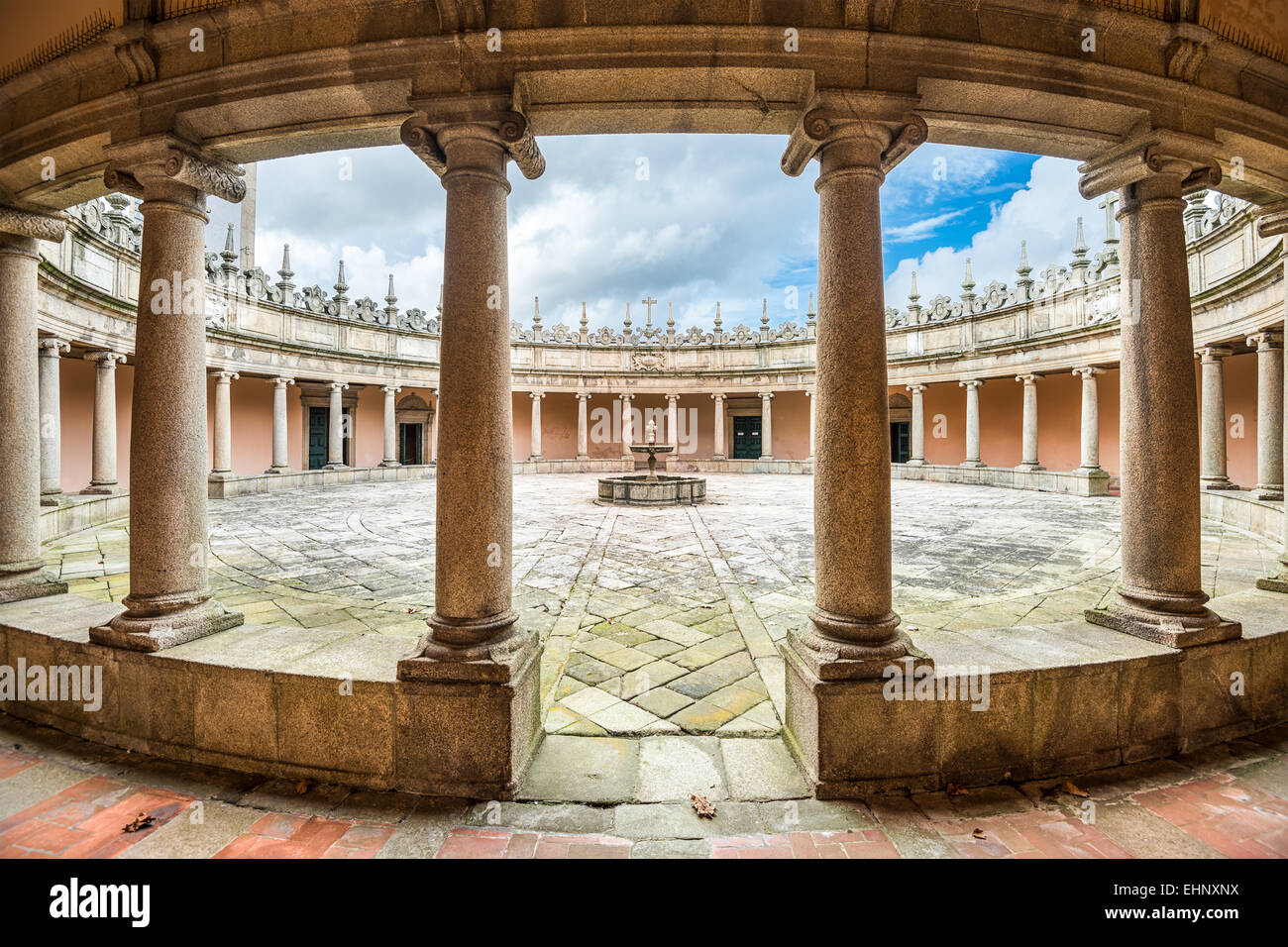Porto, Portugal at Serra do Pilar Monastery courtyard. - Stock Image