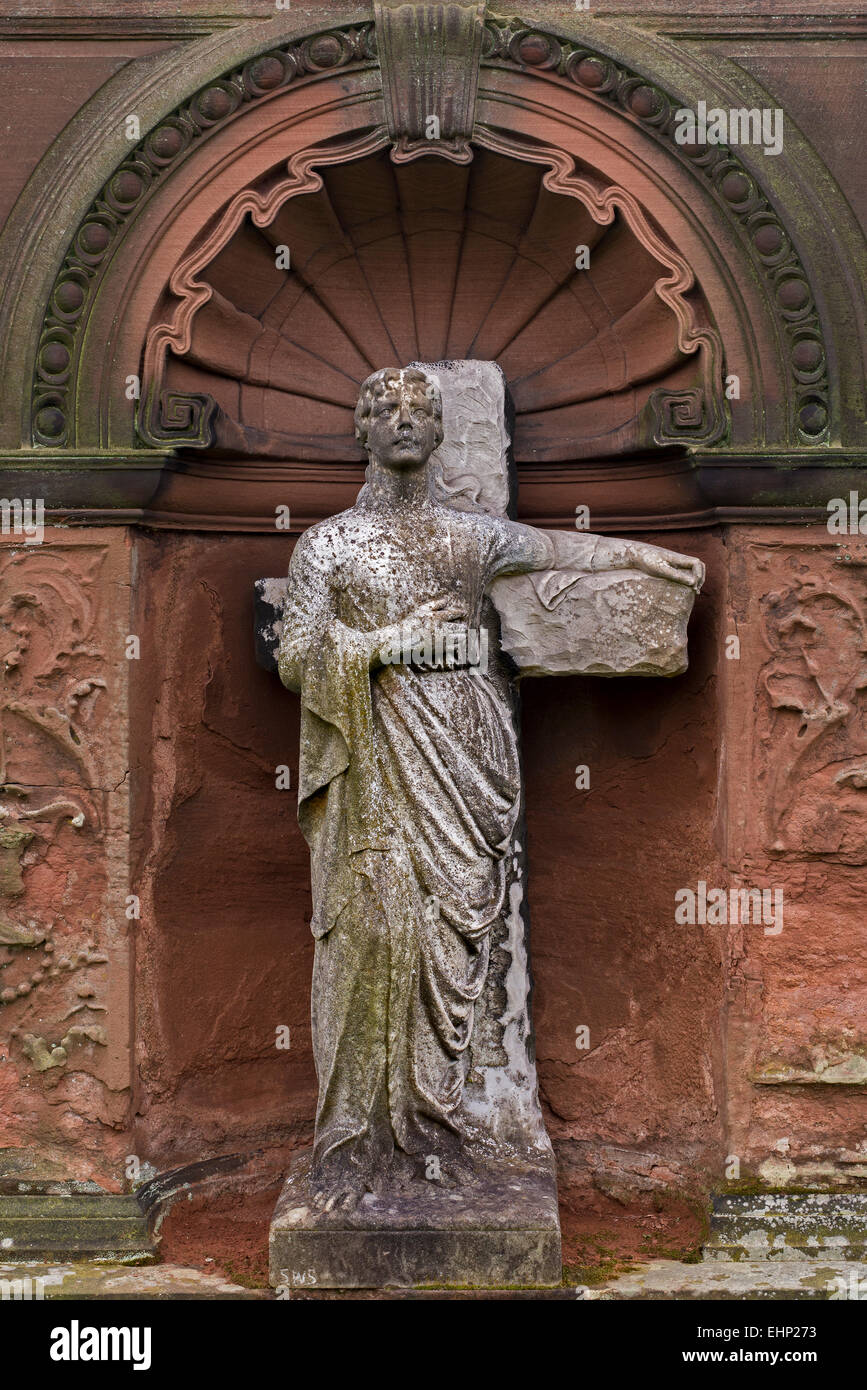 Detail from the McCulloch-Murray monument by Thomas P. Marwick (1886) in Morningside Cemetery, Edinburgh. - Stock Image
