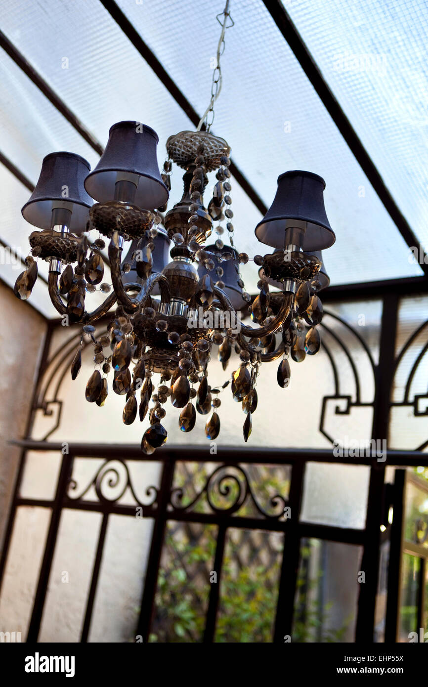 Chandelier and pendants in an old veranda stock photo 79777654 alamy chandelier and pendants in an old veranda aloadofball Choice Image