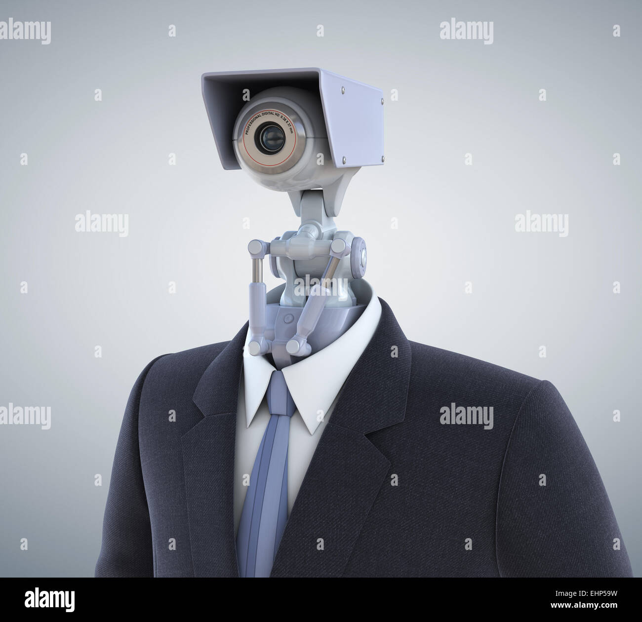 Automated surveillance camera. Clipping path included Stock Photo