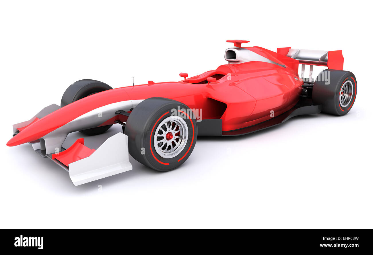 Formula race red car designed by myself - Stock Image