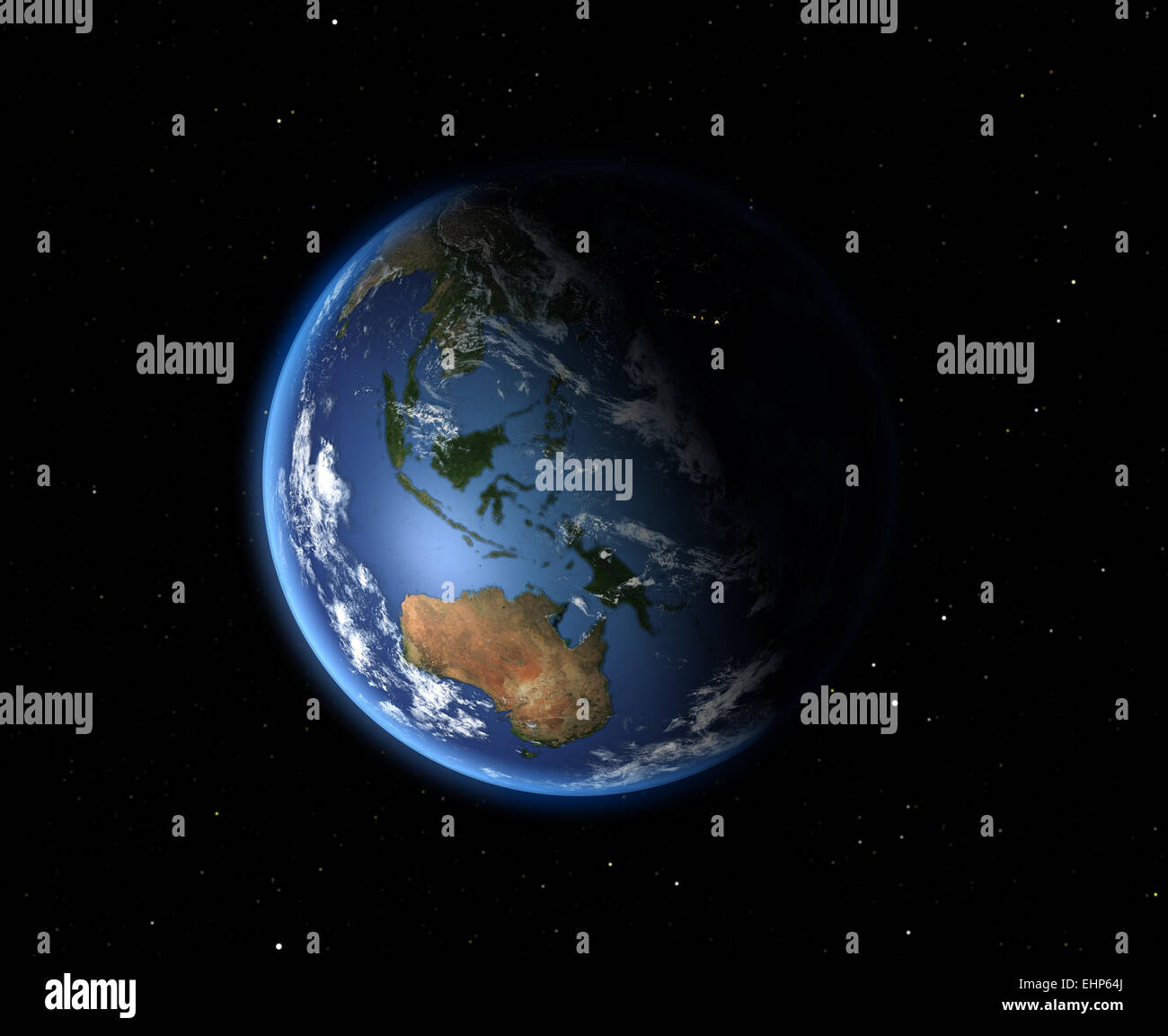 The Earth from space. Australia and Oceania - Stock Image