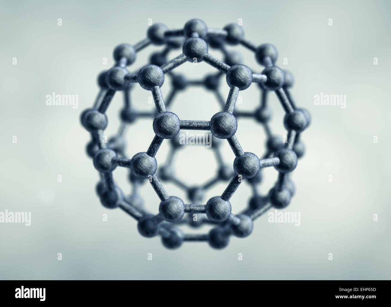 Molecule of Graphene - Stock Image