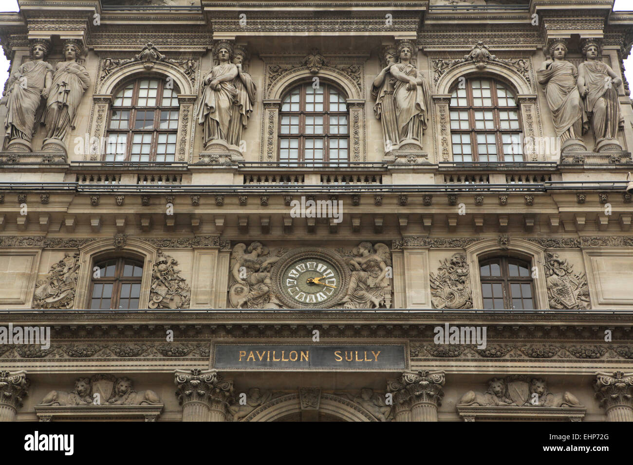 Renaissance wing of the Louvre Museum in Paris, France. - Stock Image