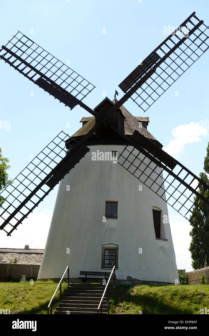 historically preserved windmill - Stock Image