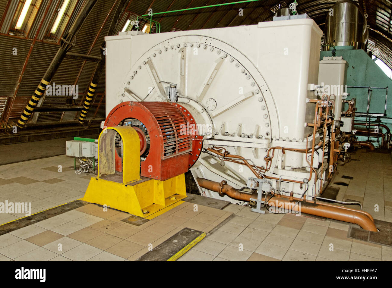 electric generator power plant. Generator In A Electricity Power Plant - Stock Image Electric I