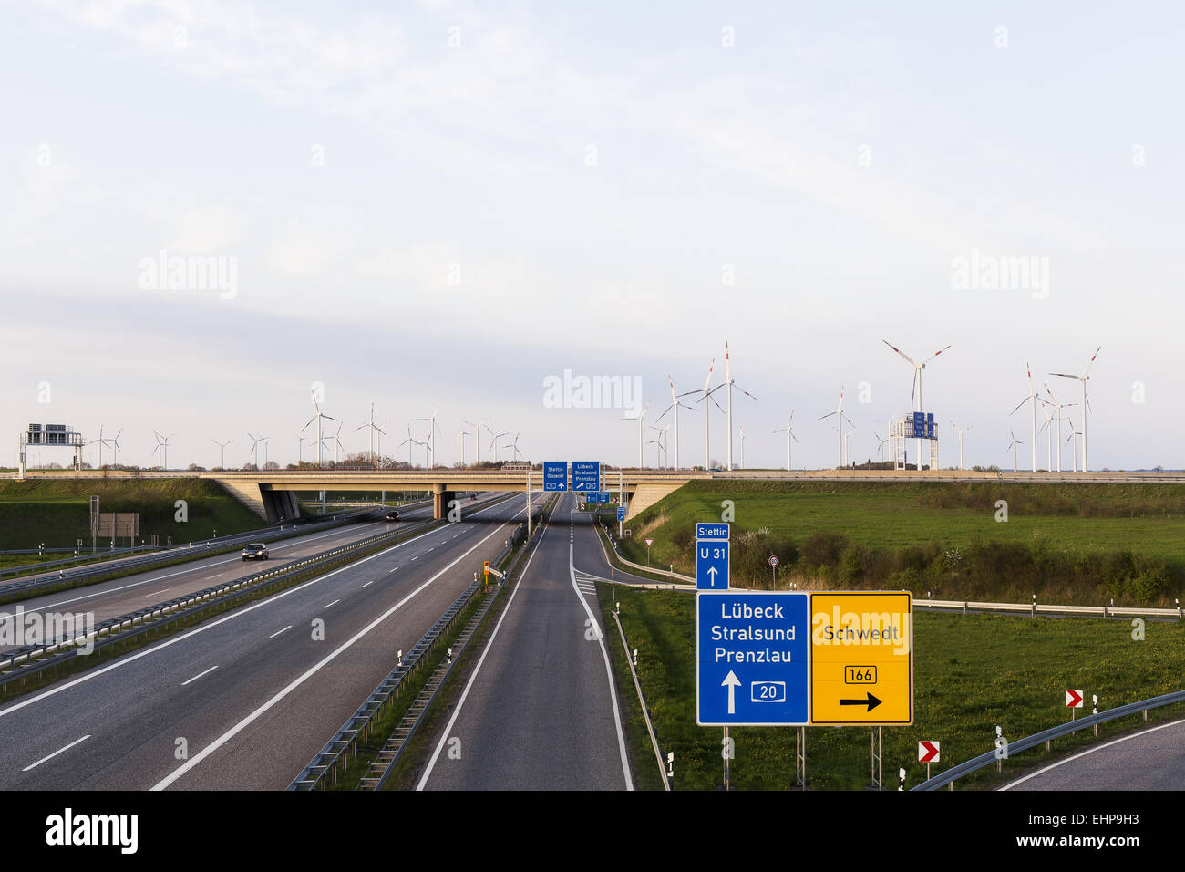 highways crossing - Stock Image
