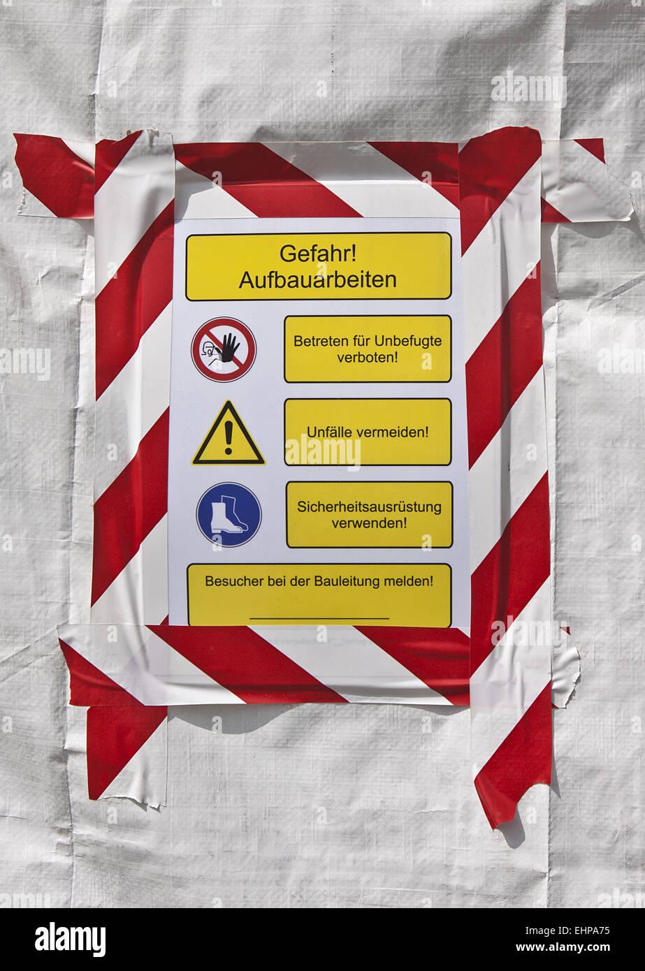 Danger - Stock Image