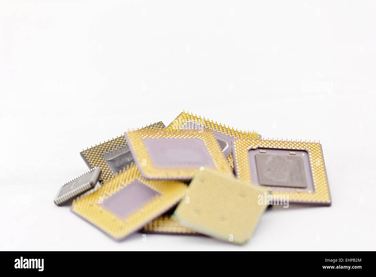 close up of cpu processors - Stock Image