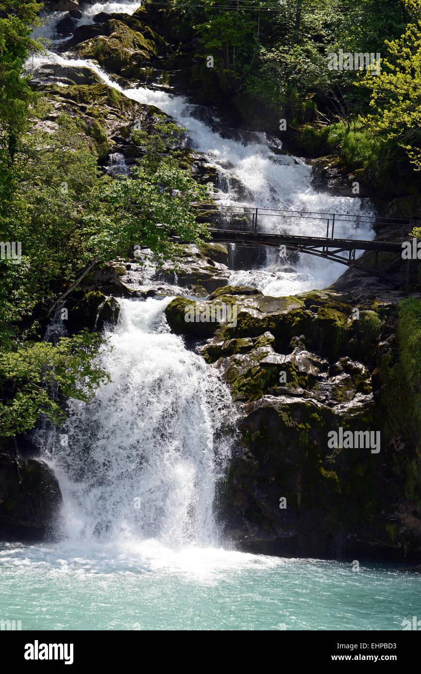 Giessbachfälle / Giessbach falls Stock Photo